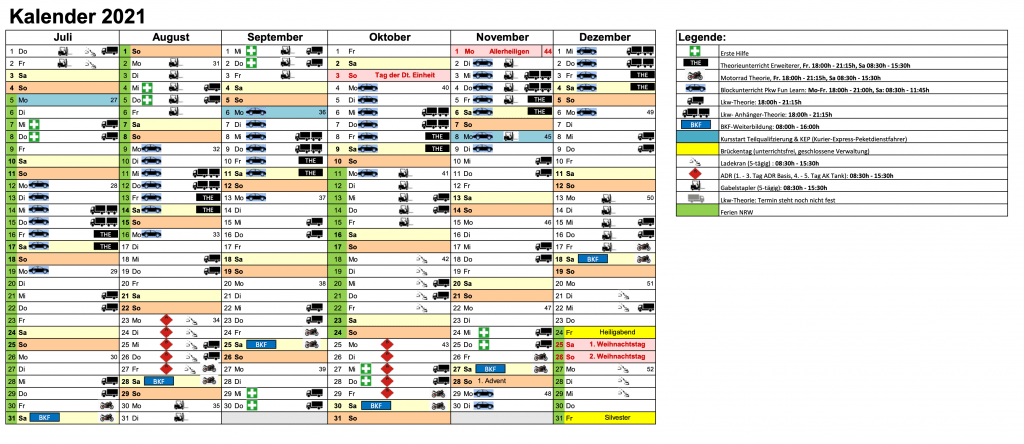 Jahresplanung FFS 2021